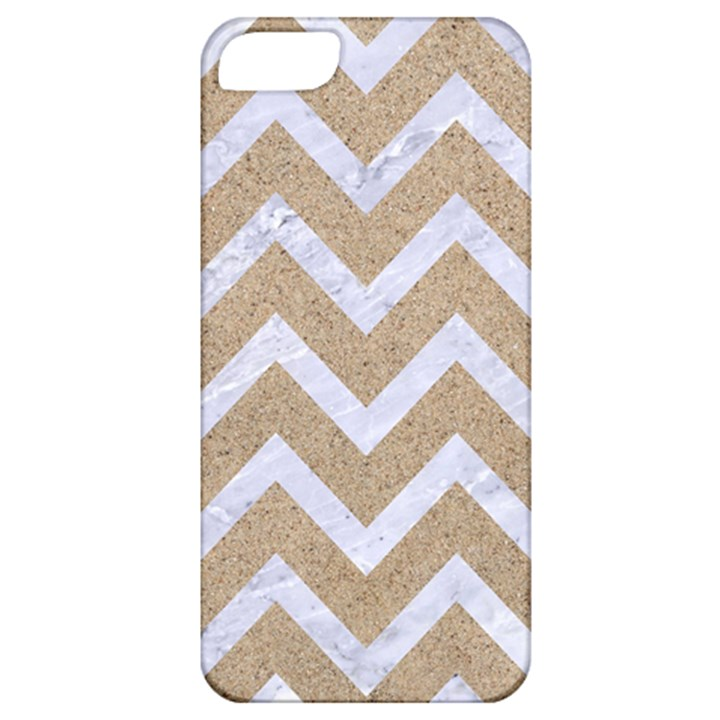 CHEVRON9 WHITE MARBLE & SAND Apple iPhone 5 Classic Hardshell Case