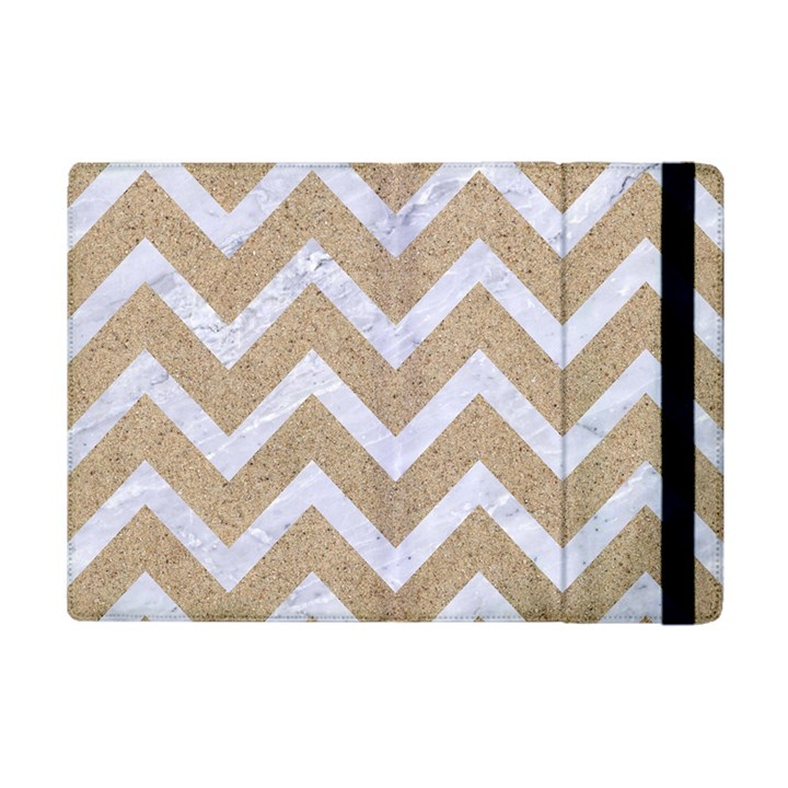 CHEVRON9 WHITE MARBLE & SAND Apple iPad Mini Flip Case