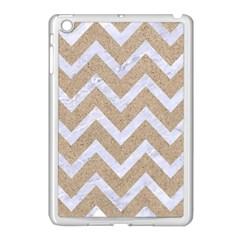 CHEVRON9 WHITE MARBLE & SAND Apple iPad Mini Case (White)