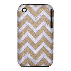 Chevron9 White Marble & Sand Iphone 3s/3gs by trendistuff
