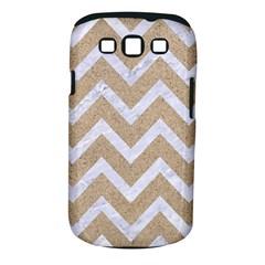 CHEVRON9 WHITE MARBLE & SAND Samsung Galaxy S III Classic Hardshell Case (PC+Silicone)