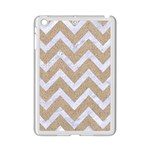 CHEVRON9 WHITE MARBLE & SAND iPad Mini 2 Enamel Coated Cases Front