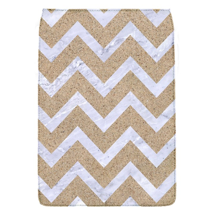 CHEVRON9 WHITE MARBLE & SAND Flap Covers (S)