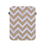 CHEVRON9 WHITE MARBLE & SAND Apple iPad 2/3/4 Protective Soft Cases Front