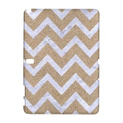 Chevron9 White Marble & Sand Galaxy Note 1