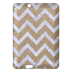 Chevron9 White Marble & Sand Kindle Fire Hdx Hardshell Case by trendistuff