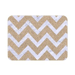Chevron9 White Marble & Sand Double Sided Flano Blanket (mini)