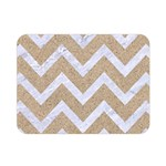CHEVRON9 WHITE MARBLE & SAND Double Sided Flano Blanket (Mini)  35 x27 Blanket Back