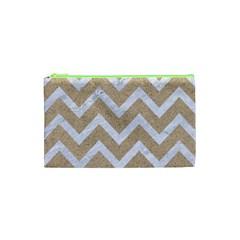 CHEVRON9 WHITE MARBLE & SAND Cosmetic Bag (XS)