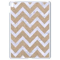 Chevron9 White Marble & Sand Apple Ipad Pro 9 7   White Seamless Case