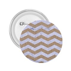 Chevron3 White Marble & Sand 2 25  Buttons