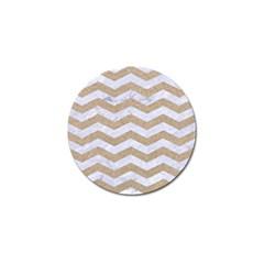 Chevron3 White Marble & Sand Golf Ball Marker (10 Pack)