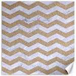 CHEVRON3 WHITE MARBLE & SAND Canvas 12  x 12   12 x12 Canvas - 1