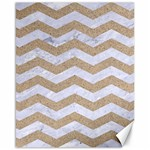 CHEVRON3 WHITE MARBLE & SAND Canvas 16  x 20   20 x16 Canvas - 1