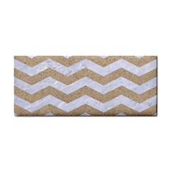 Chevron3 White Marble & Sand Cosmetic Storage Cases