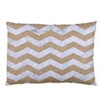 CHEVRON3 WHITE MARBLE & SAND Pillow Case 26.62 x18.9 Pillow Case