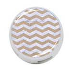 CHEVRON3 WHITE MARBLE & SAND 4-Port USB Hub (One Side) Front