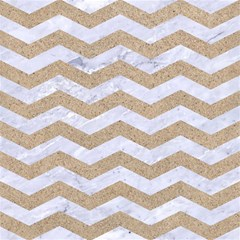 Chevron3 White Marble & Sand Magic Photo Cubes
