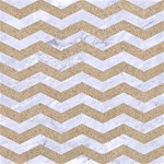 CHEVRON3 WHITE MARBLE & SAND Magic Photo Cubes Side 1