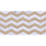CHEVRON3 WHITE MARBLE & SAND Magic Photo Cubes Long Side 3