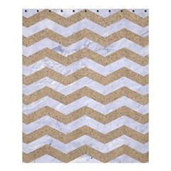 Chevron3 White Marble & Sand Shower Curtain 60  X 72  (medium)