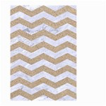 CHEVRON3 WHITE MARBLE & SAND Small Garden Flag (Two Sides) Front