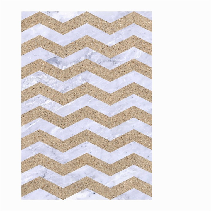 CHEVRON3 WHITE MARBLE & SAND Small Garden Flag (Two Sides)