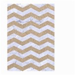 CHEVRON3 WHITE MARBLE & SAND Large Garden Flag (Two Sides) Back