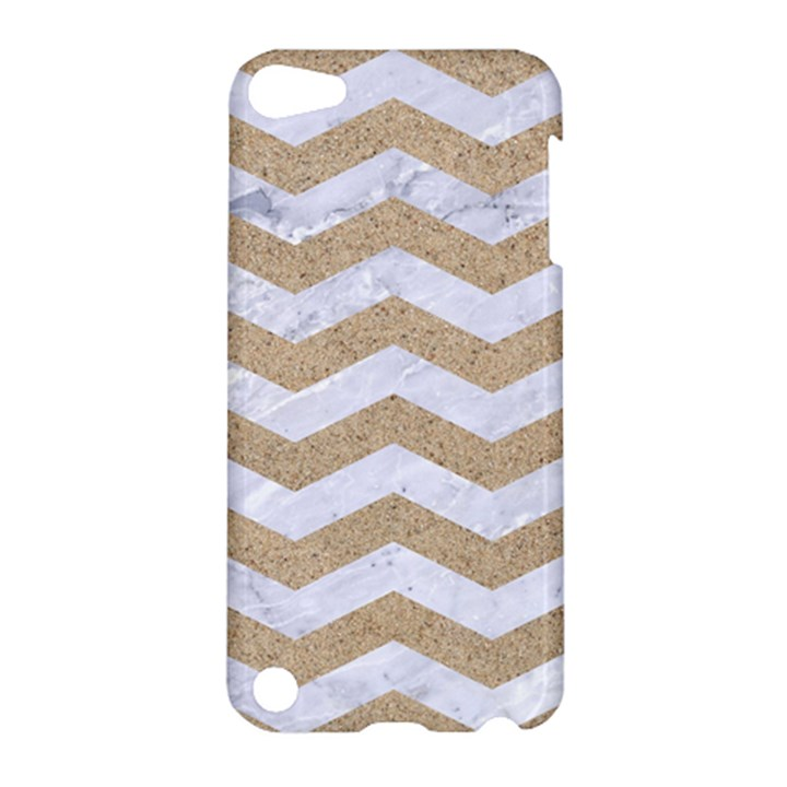 CHEVRON3 WHITE MARBLE & SAND Apple iPod Touch 5 Hardshell Case