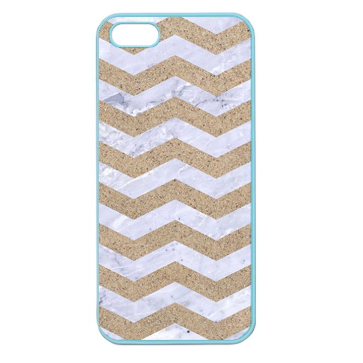 CHEVRON3 WHITE MARBLE & SAND Apple Seamless iPhone 5 Case (Color)