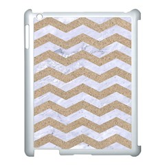 Chevron3 White Marble & Sand Apple Ipad 3/4 Case (white)