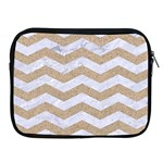 CHEVRON3 WHITE MARBLE & SAND Apple iPad 2/3/4 Zipper Cases Front