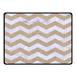 CHEVRON3 WHITE MARBLE & SAND Double Sided Fleece Blanket (Small)  45 x34 Blanket Front