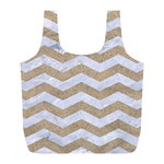 CHEVRON3 WHITE MARBLE & SAND Full Print Recycle Bags (L)  Front