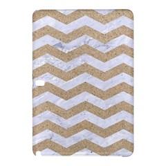 Chevron3 White Marble & Sand Samsung Galaxy Tab Pro 12 2 Hardshell Case