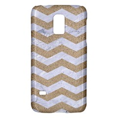 Chevron3 White Marble & Sand Galaxy S5 Mini