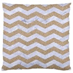 CHEVRON3 WHITE MARBLE & SAND Standard Flano Cushion Case (Two Sides) Back