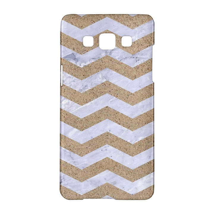 CHEVRON3 WHITE MARBLE & SAND Samsung Galaxy A5 Hardshell Case