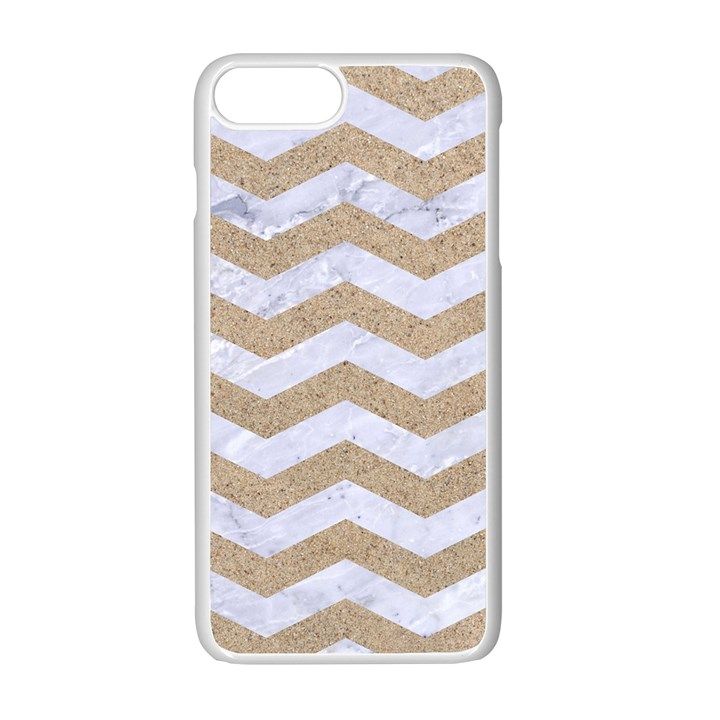 CHEVRON3 WHITE MARBLE & SAND Apple iPhone 7 Plus Seamless Case (White)