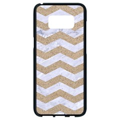 Chevron3 White Marble & Sand Samsung Galaxy S8 Black Seamless Case