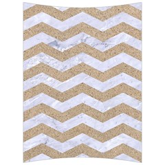Chevron3 White Marble & Sand Back Support Cushion