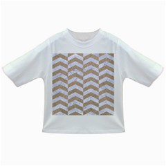 Chevron2 White Marble & Sand Infant/toddler T Shirts