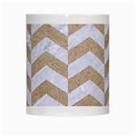 CHEVRON2 WHITE MARBLE & SAND White Mugs Center