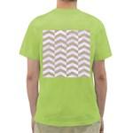CHEVRON2 WHITE MARBLE & SAND Green T-Shirt Back