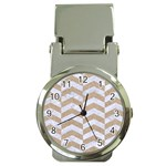 CHEVRON2 WHITE MARBLE & SAND Money Clip Watches Front