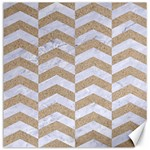 CHEVRON2 WHITE MARBLE & SAND Canvas 16  x 16   16 x16 Canvas - 1