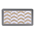 CHEVRON2 WHITE MARBLE & SAND Memory Card Reader (Mini) Front