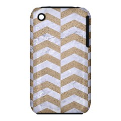 Chevron2 White Marble & Sand Iphone 3s/3gs