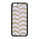 CHEVRON2 WHITE MARBLE & SAND Apple iPhone 5C Seamless Case (Black) Front