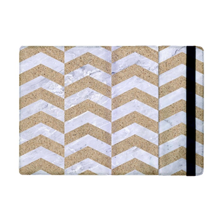 CHEVRON2 WHITE MARBLE & SAND iPad Mini 2 Flip Cases
